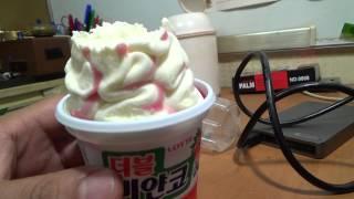 getlinkyoutube.com-롯데 더블 비얀코, 샤베트가 들어간 아이스크림 제품 구입 시식기
