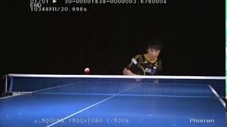 getlinkyoutube.com-卓球 松平選手 サーブ(スーパースロー)