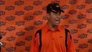 Oklahoma State Football Coach Mike Gundy Upset