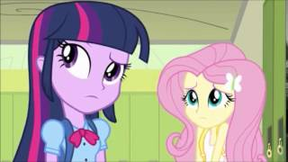 getlinkyoutube.com-Twilight Sparkle faces Sunset Shimmer and meets Fluttershy