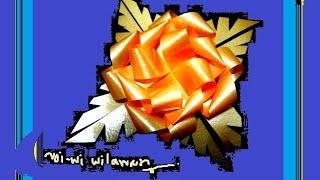 getlinkyoutube.com-ริบบิ้นห่อเหรียญโปรยทานดอกดาวกระจาย 4 # How to flower ribbon (ลายกุหลาบมอญ)