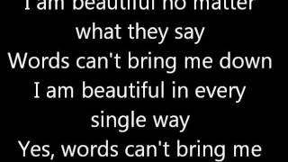 getlinkyoutube.com-Beautiful christina aguilera lyrics
