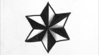 getlinkyoutube.com-[だれでも描ける!線画アート] 立体的な星の描き方[ゼンタングル]  How to draw zentangle