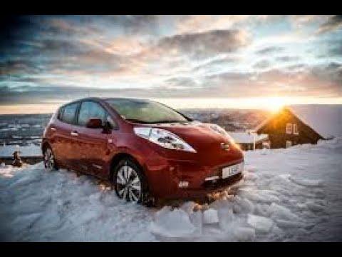 Nissan Leaf прогрев салона при -19°с