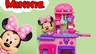 getlinkyoutube.com-MINNIE MOUSE Disney  Minnie Mouse Flipping Kitchen a Funny Minnie Mouse Video Toys Unboxing