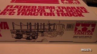 getlinkyoutube.com-RC TRAIL TAMIYA FLATBED SEMI TRAILER UNBOXING