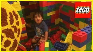 getlinkyoutube.com-GIANT LEGO World's biggest indoor playground LegoLand Discovery Center kids Video Ryan ToysReview