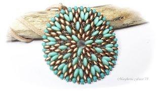 getlinkyoutube.com-Tutorial con perline superduo e lentil, ciondolo Alessandra DIY 75marghe75