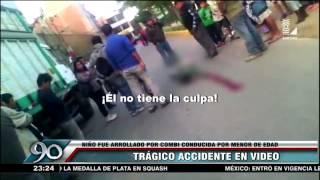 getlinkyoutube.com-Niño falleció tras ser atropellado por menor que conducía combi