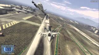 getlinkyoutube.com-【GTA5】戦闘機で飛行機を撃墜する!