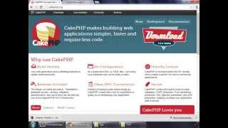 CakePHP 2.5.4 Basics Tutorial for Beginners - Blog Application - 04 - Installing CakePHP