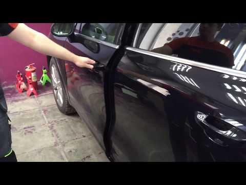 Установка автоматических доводчиков дверей на Porsche Cayenne.
