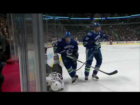 Keith Ballard Hipcheck on Tomas Kopecky - 02.04.11 - HD