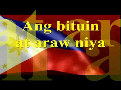 Lupang Hinirang Instrumental Lyrics by filia