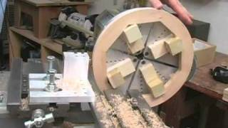 getlinkyoutube.com-Hickler Banjo Making: Rim Lathe Part 3