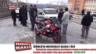 Üzümlü'de Motosiklet Kazası Can Aldı; 1 Ölü 1 Yaralı