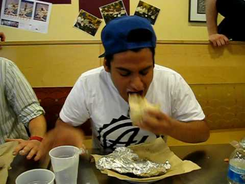 Qdoba Dinkytown Burrito Eating Contest (chicken)