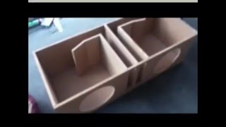 getlinkyoutube.com-Dual 12 Inch Ported Subwoofer Box W/ CommodoreSubwoofers - How To