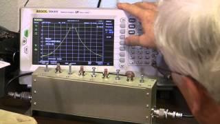 Evaluating a VHF Combline Filter   DSA815 TG