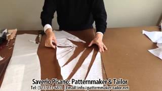 getlinkyoutube.com-Pattern making for Blue Decolette Dress by Patternmaker Pisano
