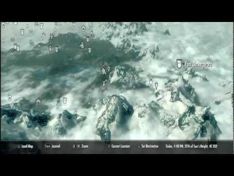 Skyrim Dawnguard Gameplay - How to find. How to get Dayspring Canyon Fort Dawnguard