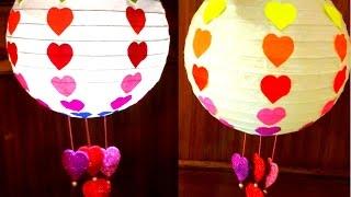 getlinkyoutube.com-Diy How to make Valentine's Day Rainbow Paper Lantern