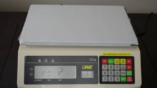 SEK Checkweighing & Counting Scale | Memory Save Demo