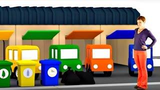 getlinkyoutube.com-Развивающий мультик про машинки для детей. 4 машинки. Убираем мусор.