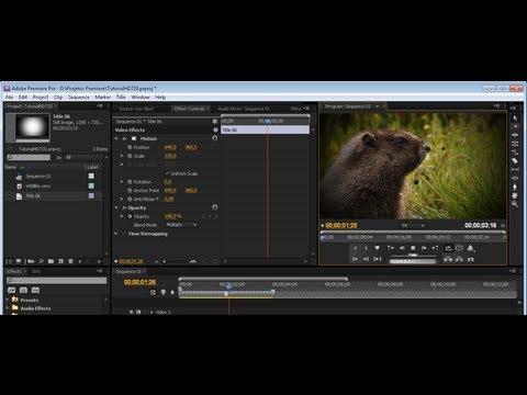 Premiere Pro CS5 - Criando uma Borda Sombreada (HD).