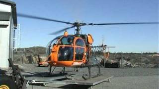 getlinkyoutube.com-Eurocopter Lama startup and takeoff