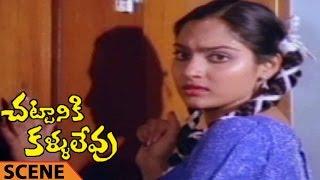 Villain Trying To Rape Madhavi Scene    Chattaniki Kallu Levu Movie    Chiranjeevi, Madhavi