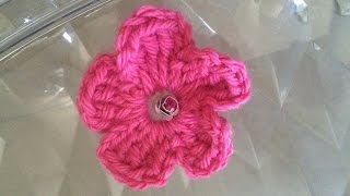 getlinkyoutube.com-tuto fleur au crochet facile pour débutant #crochet #1