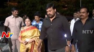 Chiranjeevi Grand Entry At Bruce Lee Audio Launch | Ram Charan | Rakul Preet | Srinu Vaitla