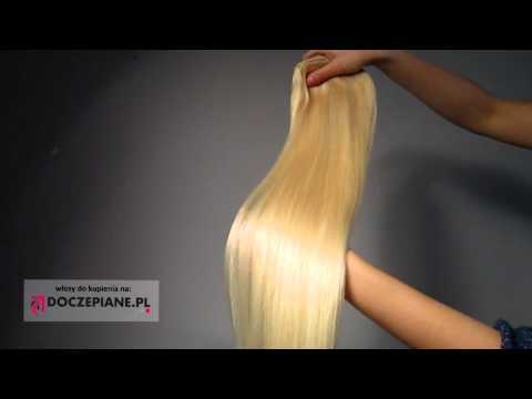 Doczepianepl - Zestaw 55cm 120g kolor #613 Jasny Blond - Włosy CLIP IN - Przedłużanie Włosów