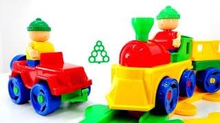 getlinkyoutube.com-Железная дорога.  Поезд. Игрушки БАУЕР. Игрушки для детей. Видео для детей