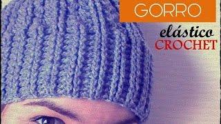 getlinkyoutube.com-GORRO con punto elástico a CROCHET (diestro)