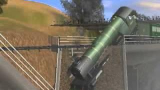 getlinkyoutube.com-Gresley/Flying Scotsman trapped on broken bridge
