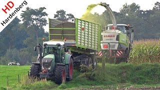 getlinkyoutube.com-Mais hakselen 2015 | DEEL 2 | Claas Jaguar 950 | Fendt 828 Black Beauty + 930 Vario | NL.