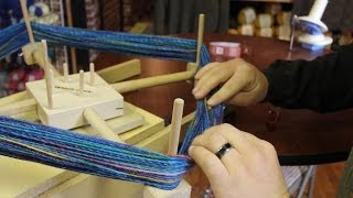 getlinkyoutube.com-Tips on Unwinding a Skein of yarn with a Ball Winder and Swift