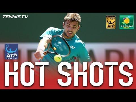 Hot Shot: Wawrinka Hits Blistering Backhand In Indian Wells 2017