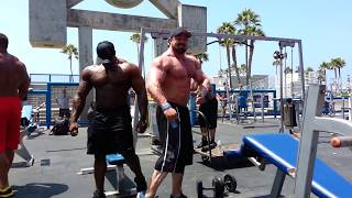 SUPERMUTANTS Rich Piana, Gabe Moen, Ron Partlow & Renaldo Gairy take over The Muscle Beach Pit