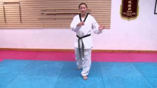 Taekwondo Spinning Heel Kick