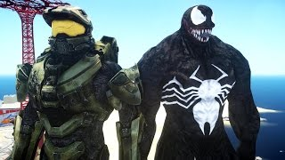getlinkyoutube.com-HALO MASTER CHIEF VS VENOM - EPIC BATTLE