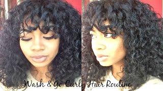 getlinkyoutube.com-Wash & Go Curly Hair Routine 3A 3B Hair (Great for Dry, Damaged Hair!)