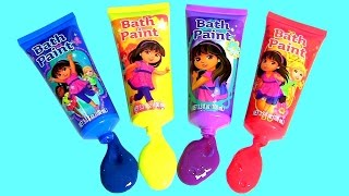 getlinkyoutube.com-Learn Colors Dora the Explorer Bath Paint Mickey Minnie Bath Bomb, Peppa Pig bath bomb Fingerpaint