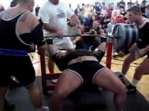 Мировой рекорд в жиме лежа 489 кг!!!!!!!!!!