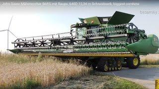 getlinkyoutube.com-John Deere Mähdrescher S685i - 12,34 m Schneidwerk - biggest combine - Weizen dreschen / mähen