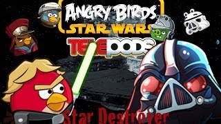 getlinkyoutube.com-Angry Birds Star Wars Telepods: Star Destroyer with Telepod Gameplay!