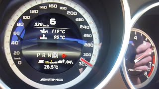 getlinkyoutube.com-Mercedes CLS 63 AMG Acceleration 0-320 km/h Test Drive BRUTAL! 740 HP / 1100 NM by Renntech