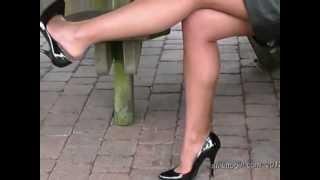 getlinkyoutube.com-Admire leggy blonde Naomi from 'Stiletto Girl' she just loves a pair of stilettos